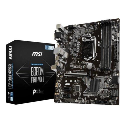 MSI B360M PRO-VDH mATX Motherboard - S1151 8Gen 4xDDR4 3xPCI-E, 1xM.2, 4xUSB3.1, 2xUSB2.0, 1xHDMI, 1xDVI, 1xD-Sub
