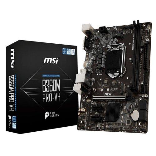 MSI B360M PRO-VH mATX Motherboard - S1151 8Gen 2xDDR4 3xPCI-E, 1xM.2, 4xUSB3.1, 2xUSB2.0, 1xD-Sub, 1xHDMI
