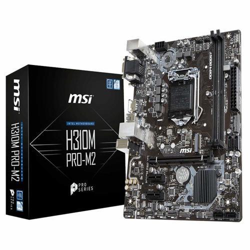 MSI H310M PRO-M2 mATX Motherboard - S1151 8Gen 2xDDR4 3xPCI-E, 1xM.2, 2xUSB3.1, 4xUSB2.0, 1xDVI, 1xD-Sub, 1xHDMI