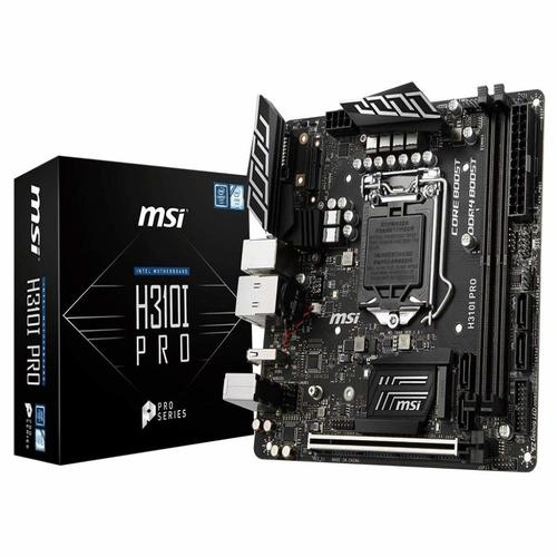 MSI H310I PRO mITX Motherboard - S1151 8Gen 2xDDR4 1xPCI-E, 1xM.2, 2xUSB3.1, 3xUSB2.0, 1xDVI, 1xDP