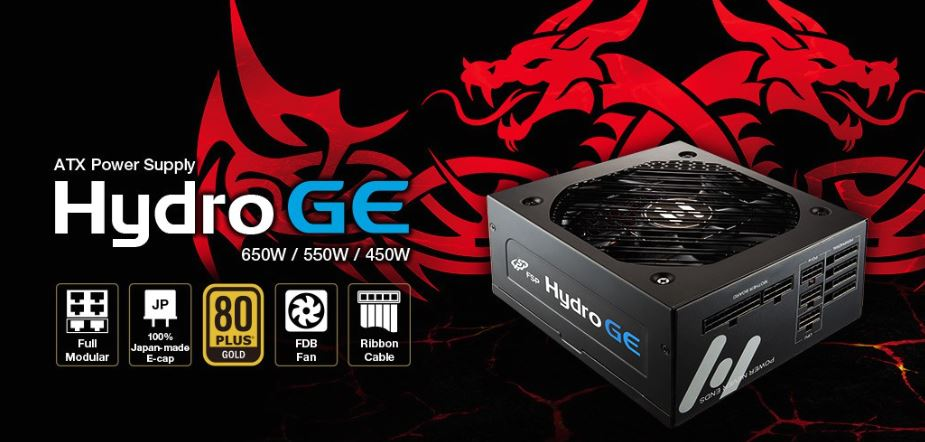 FSP 650W Hydro GE 80+ Gold Fully Modular 135mm FDB FAN ATX PSU 5 Years Warranty (LS)