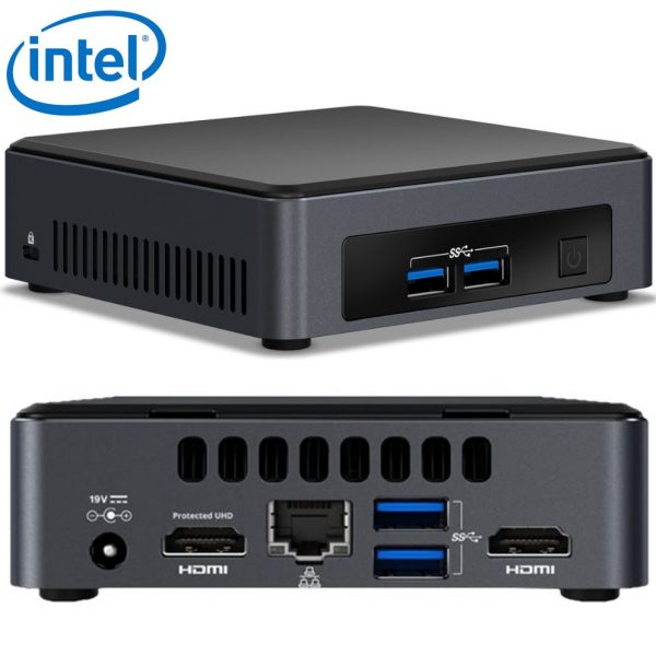 Intel NUC mini PC i5-7300U 3.5GHz 2xDDR4 SODIMM M.2 SSD 2xHDMI 2xDisplays GbE LAN WiFi BT 4xUSB3.0 vPro for Digital Signage POS