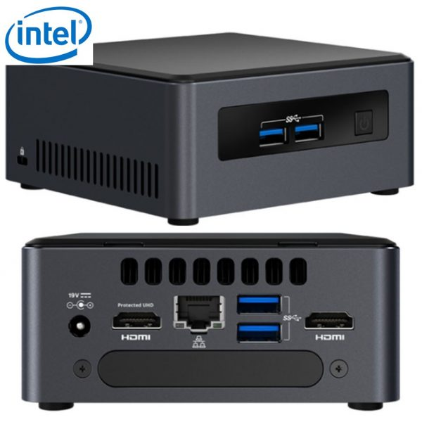 "Intel NUC mini PC i5-7300U 3.5GHz 2xDDR4 SODIMM M.2 & 2.5"" SSD 2xHDMI 2xDisplays GbE LAN WiFi BT 4xUSB3.0 vPro for Digital Signage POS"
