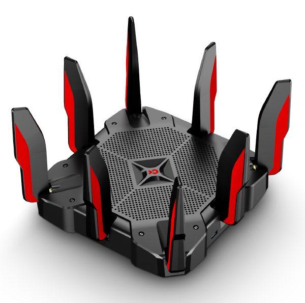 TP-Link Archer C5400X AC5400 5400Mbps Wireless Tri-Band MU-MIMO Gigabit Gaming Router 2x2167Mbps@5GHz 1000Mbps@24GHz 1xGbE WAN 8xGbE LAN 8xAntennas
