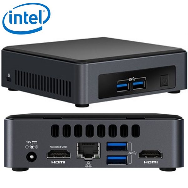 Intel NUC mini PC i3-7100U 2.4GHz 2xDDR4 SODIMM M.2 SSD 2xHDMI 2xDisplays GbE LAN Wifi BT 4xUSB3.0 for Digital Signage POS Thin Client