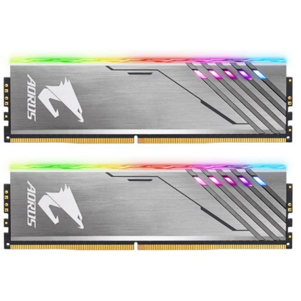 Gigabyte AORUS RGB Gaming Memory 16GB (2x8GB) DDR4 3200MHz C16 1.35V 16-18-18-38 XMP Dual Channel Aluminum Heatsinks Customise Lighting PC Desktop RAM