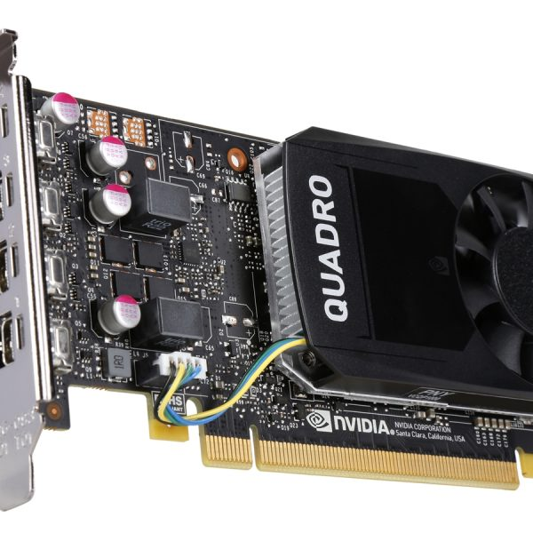 Asus nVidia Quadro P1000 PCIe Workstation Card 4GB DDR5 4xmDP 4x5120x2880@60Hz 128-Bit 82GB/s 640 Cuda Core Single Slot Low Profile