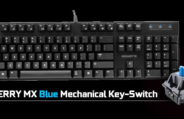 Gigabyte FORCE K83 Mechanical Gaming Keyboard Cherry MX Blue Switch Anti-ghosting Function & Windows-lock hotkeys Wear Resistant Keycaps
