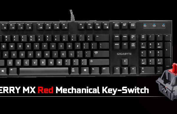 Gigabyte FORCE K81 Mechanical Gaming Keyboard Cherry MX Red Switch Anti-ghosting Function & Windows-lock hotkeys Wear Resistant Keycaps