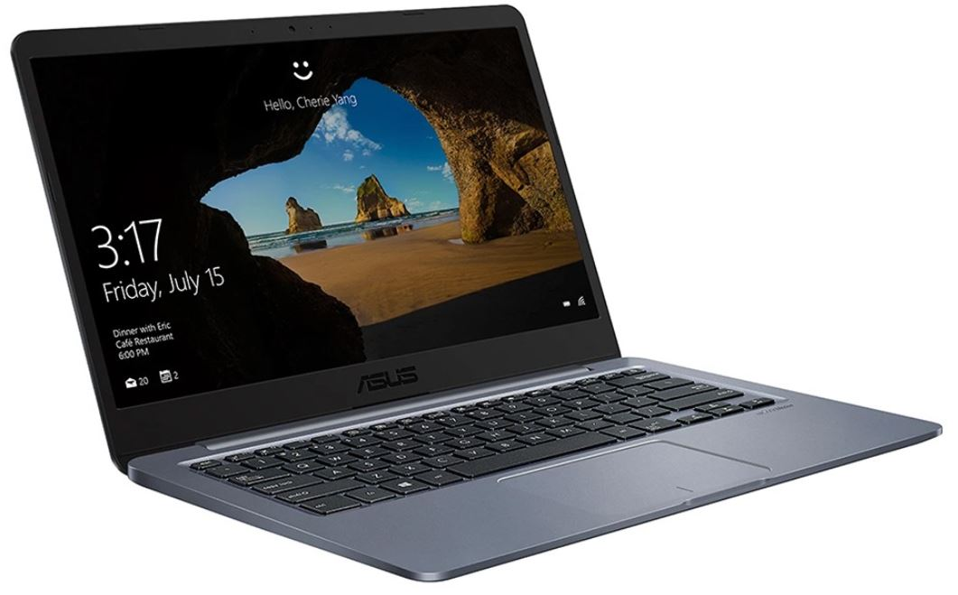 "ASUS E406SA Notebook 14"" HD Intel Pentium N3710 4GB DDR3 64GB eMMC Windows 10S (Free upgrade to Pro) HDMI VGA USB-C 1.3kg 17.6mm <15.6"""